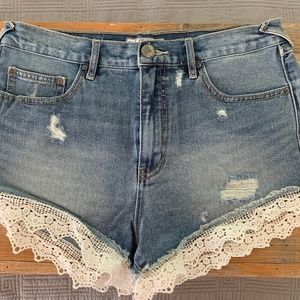 Free People Lacey Jeans Shorts